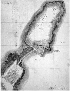 Plano de Getaria del año 1837