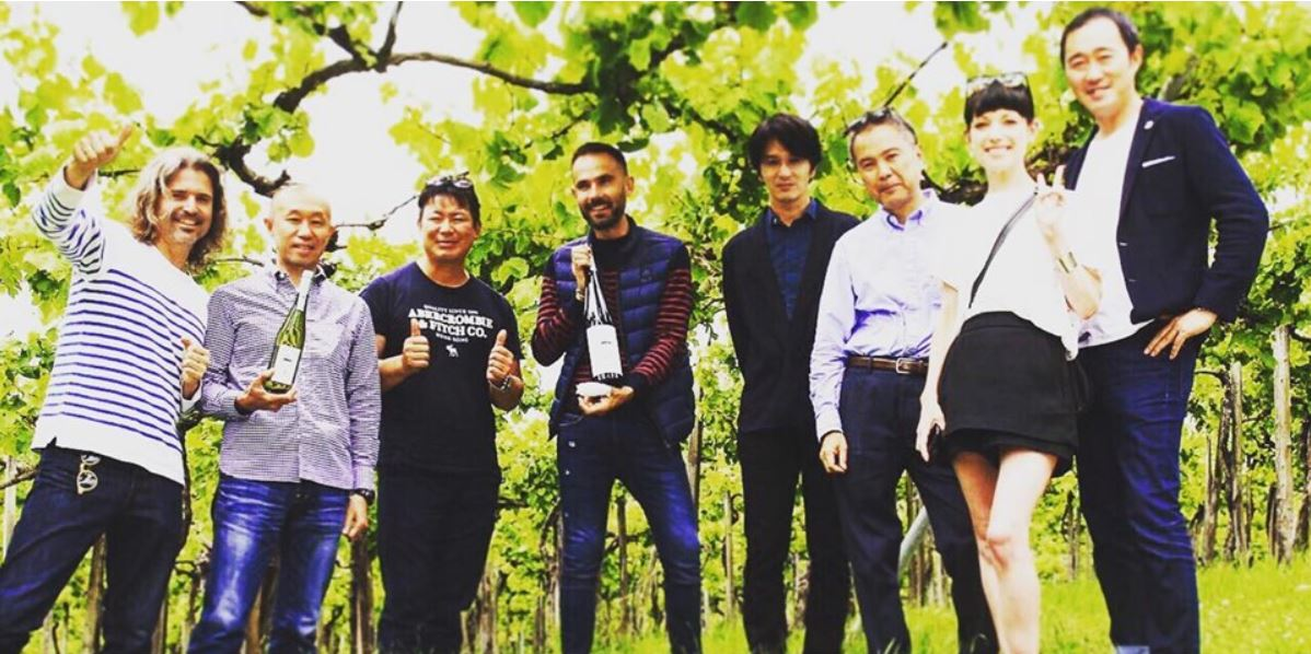 Pablo Alomar y los Next5 de Akita prueban maridaje para Txakoli Zudugarai